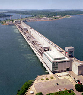 Aerial view of the St Lawrence Power Project