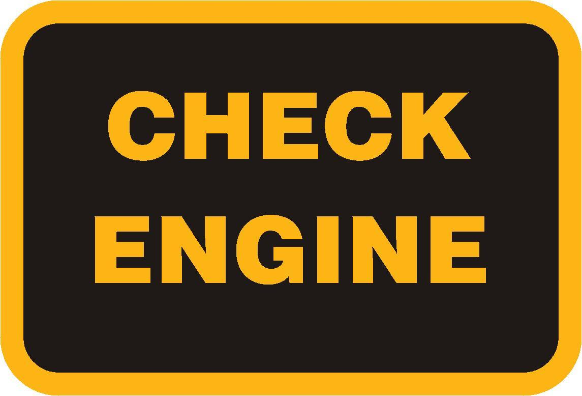 Another sample of a check engine light.