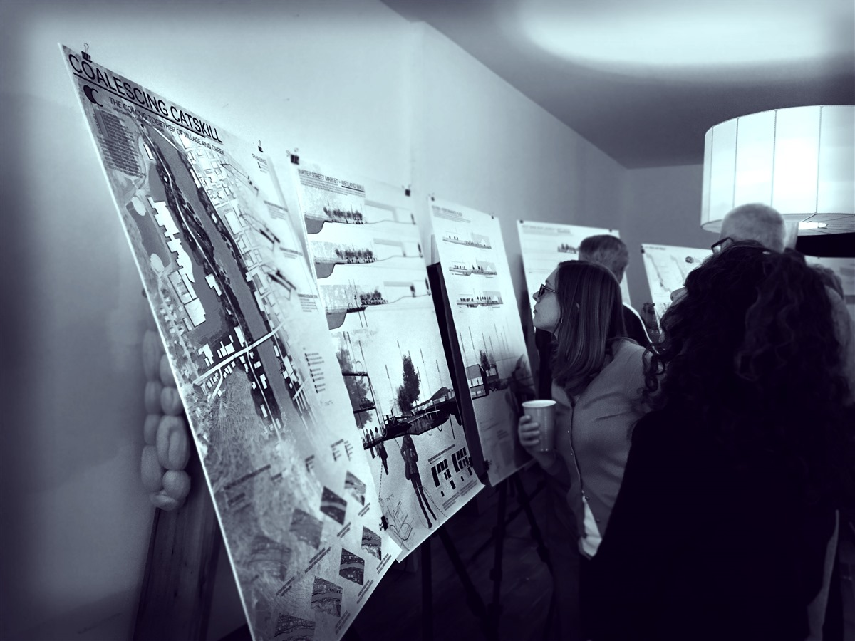 Community stakeholders reviewing climate-adaptive design