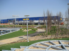 Former brownfield, now a combination IKEA store and park