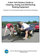 Cover image of the A New York Boaters Guide to Cleaning, Drying and Disinfecting Boating Equipment document.