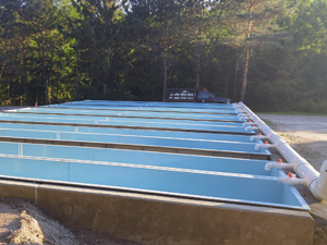 new fiberglass raceways installed at the Chateaugay Fish Hatchery