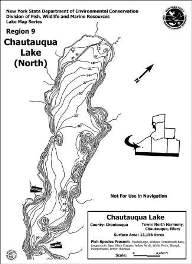 Contour map thumbnail of Chautauqua Lake north basin (PDF) (310 KB)