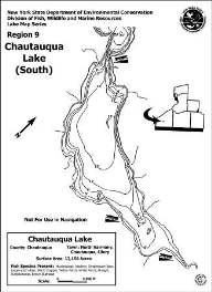 Contour map thumbnail of Chautauqua Lake south basin (PDF) (252 KB)