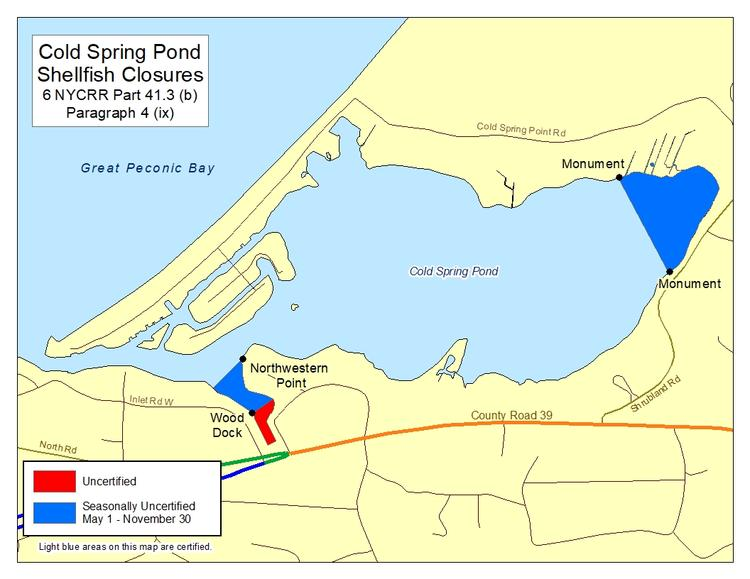 eastern shoreline Long Island map