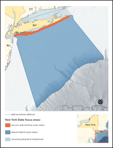 Map of the Ocean Action Plan focus area