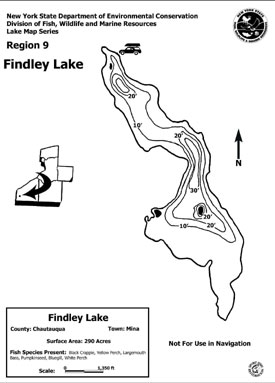 Contour map thumbnail of Findley Lake - (194 KB PDF file)