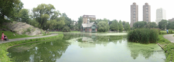 Panoramic view of Harlem Meer