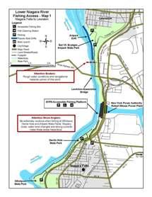 Thumbnail View Of Lower Niagara River Fishing Access Map