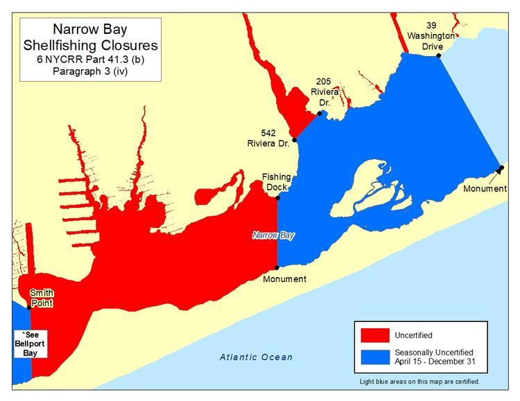 Shellfish Closures - NYS Dept  of Environmental Conservation