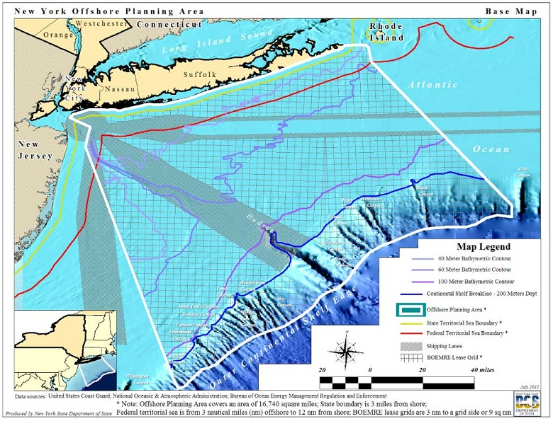 Map Of New York And Long Island.New York Offshore Planning Area Map Nys Dept Of Environmental
