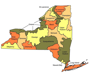 map of new york state watersheds