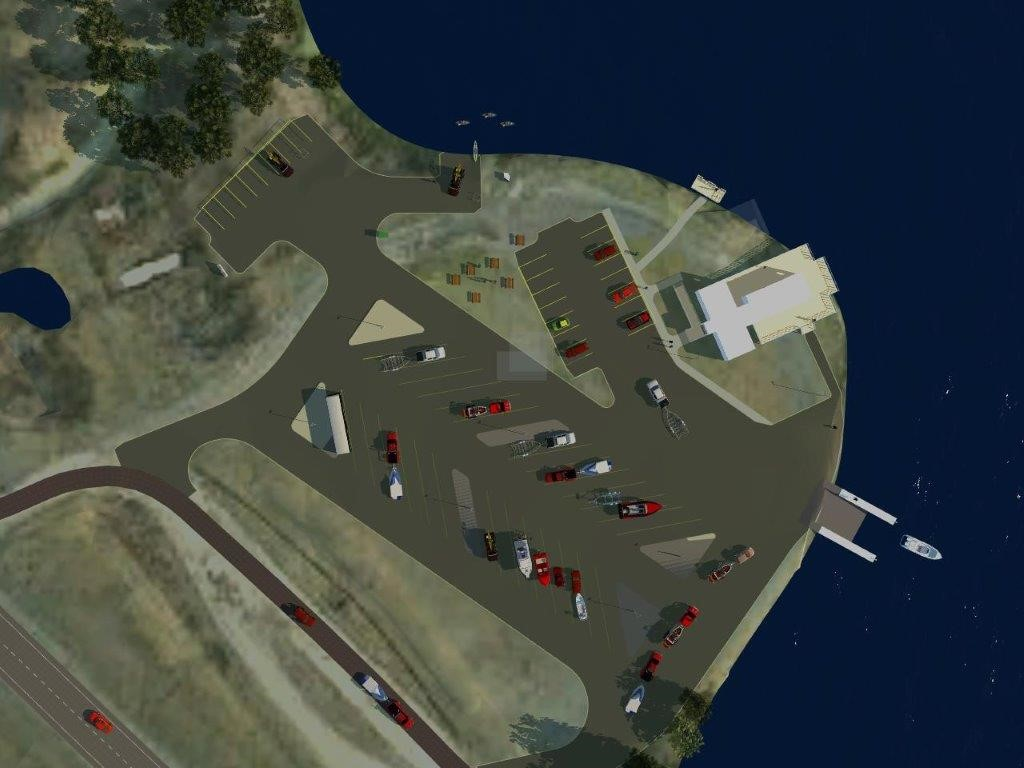 Image of proposed boat launch, option 1
