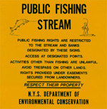 Public Fishing Right posting sign