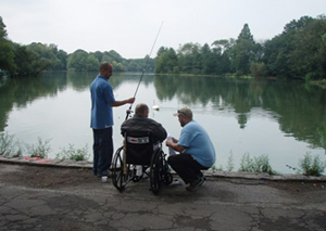 Image of fishermen at Prospect Park Lake