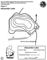 Contour Map for Alexander Lake