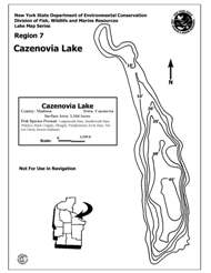 Thumbnail of Cazenovia Lake contour map.