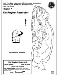 Photo of DeRuyter Reservoir contour map