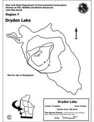 Photo of Dryden Lake Contour Map