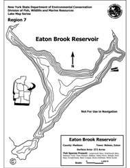Small map of Eaton Brook Reservoir Contour Map