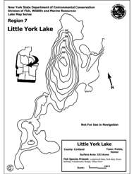 Little York Lake Map
