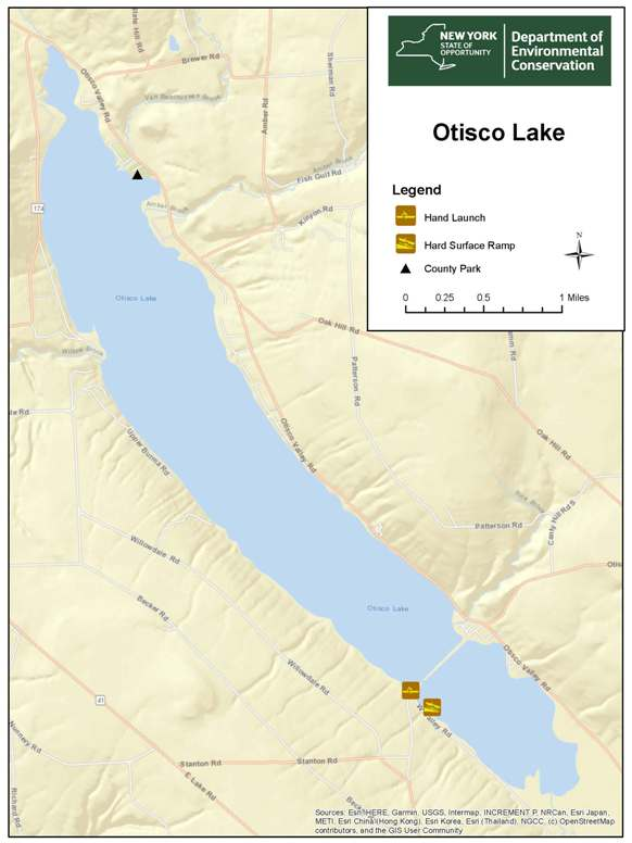 Large map of Otisco Lake