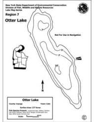 Grapic of Otter lake Contour Map