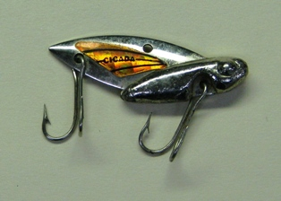 Photo of blade bait used for walleye fishing