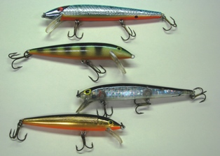Photo of stickbaits used for walleye