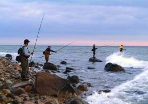 surf casting is popular along Long Island's shores