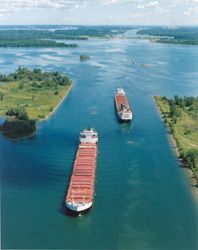 Image of tankers in the St. Lawrence Seaway.