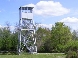 image of a fire tower