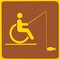 Universal Symbol of Accessibility with fishing gear