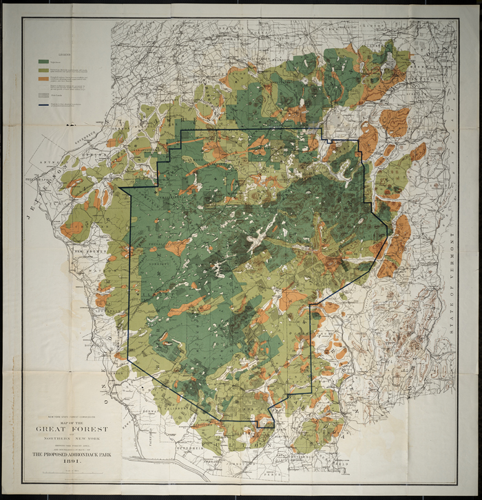 original map of adirondacks