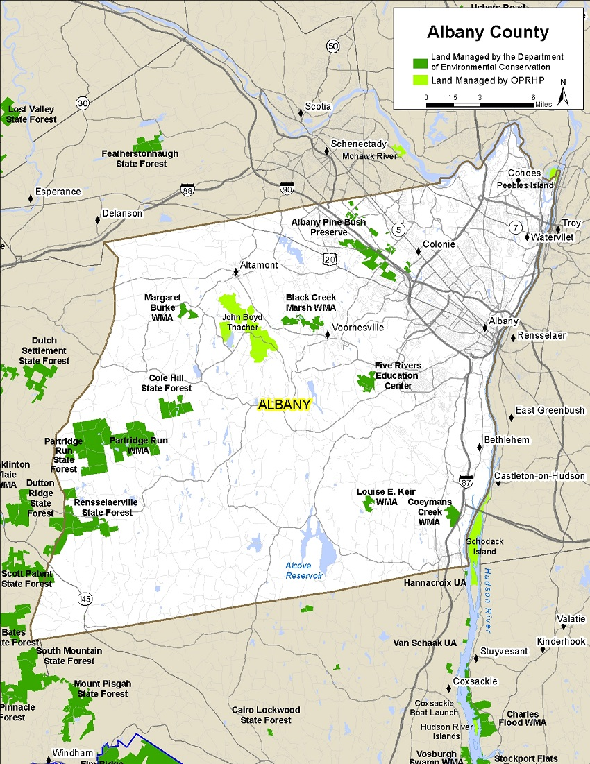 Map Of Albany Ny Albany County Map   NYS Dept. of Environmental Conservation
