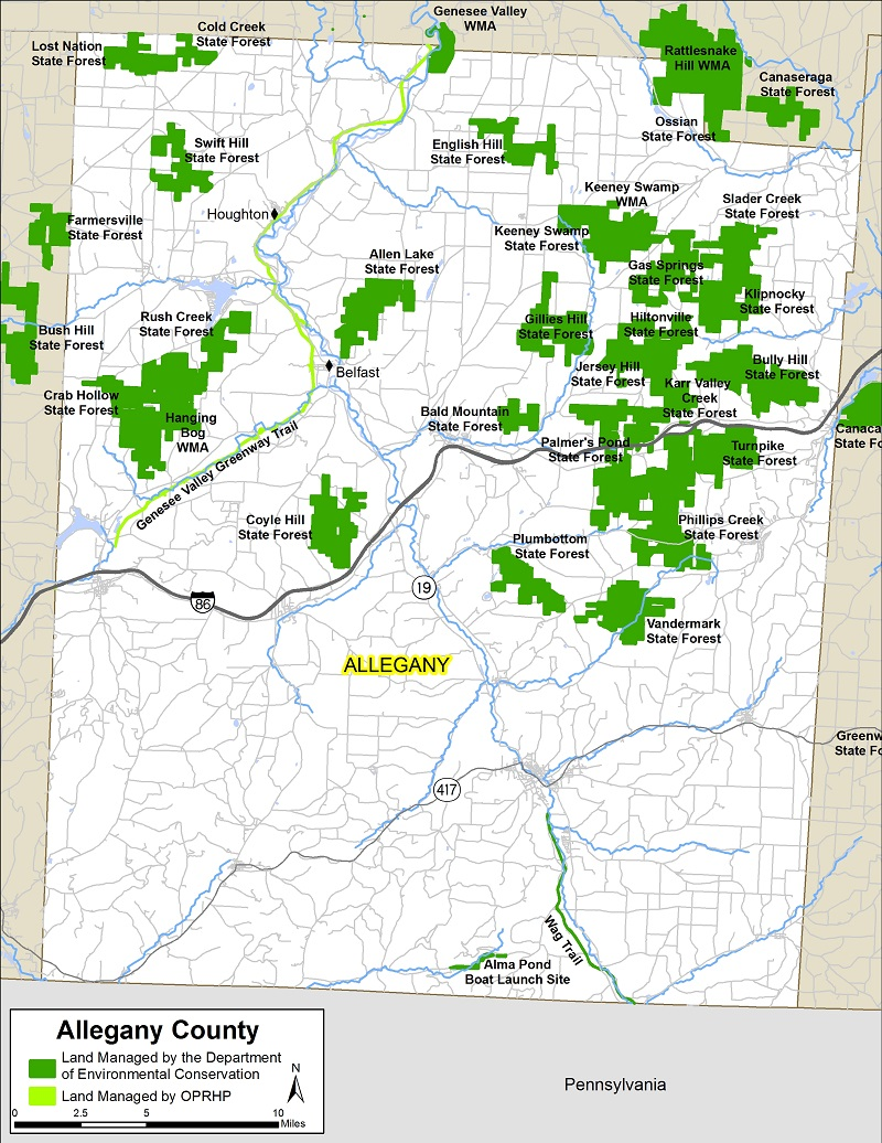 Allegany County Map   NYS Dept. of Environmental Conservation
