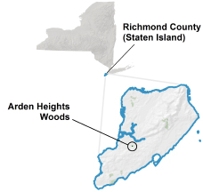 Arden Heights Woods locator map