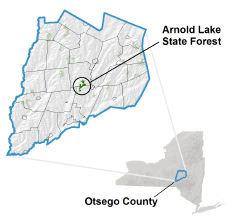 Arnold Lake State Forest locator map