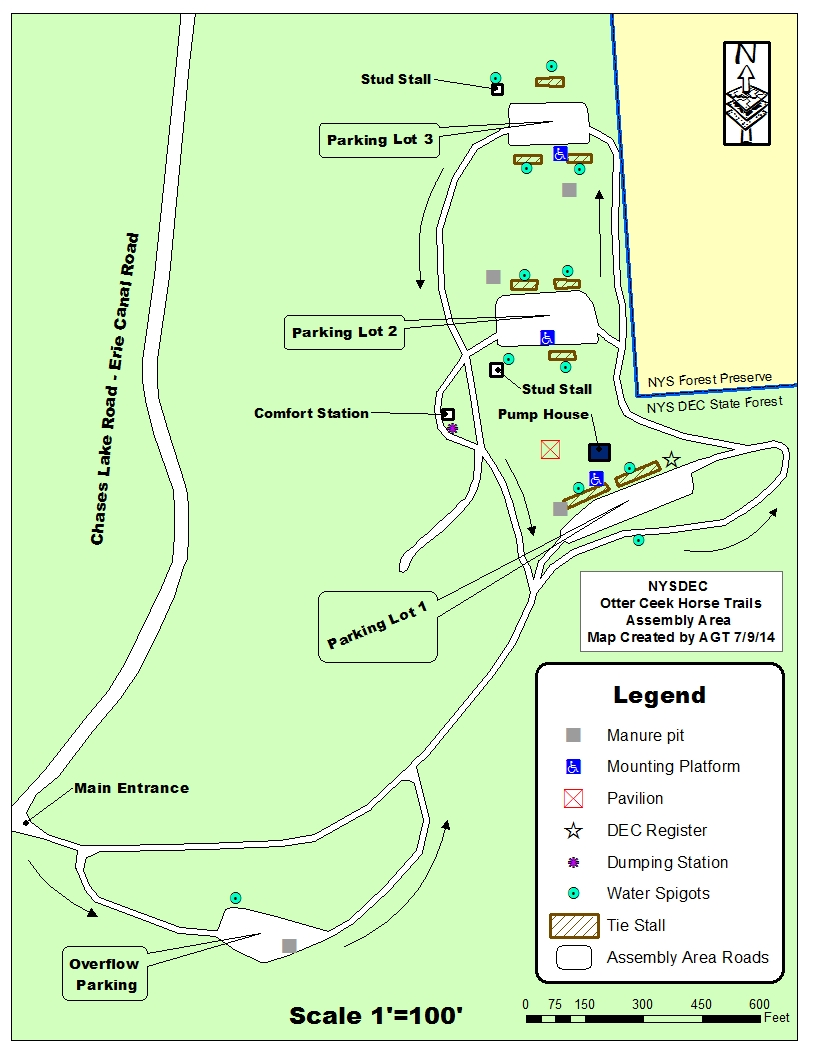 Map Of Assembly Area For Horse Trails