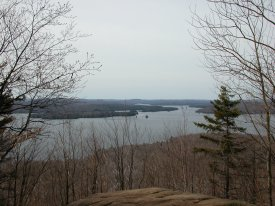 View of Cranberry Lake From the top of Bear Mountain