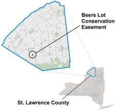 Beers Lot Conservation Easement locator map