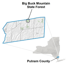 Big Buck Mountain Multiple Use Area locator map