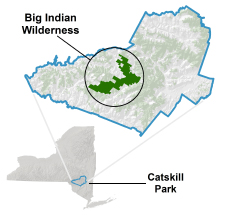 image showing location of Big Indaian Wilderness Area