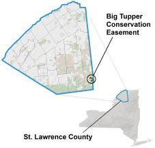 Big Tupper Conservation Easement locator map