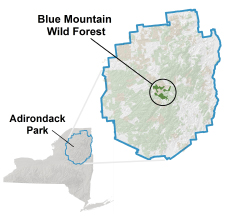 Blue Mountain Wild Forest Locator Map