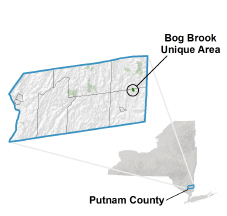Bog Brook Unique Area locator map