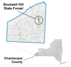 Boutwell Hill State Forest locator map