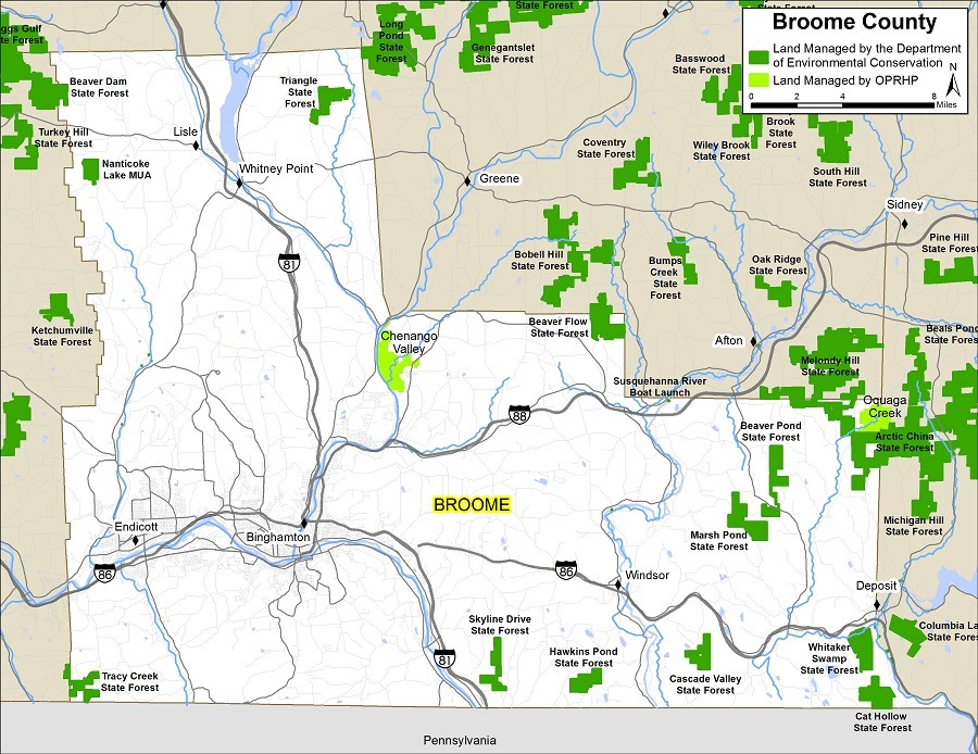 Broome County Map Nys Dept Of Environmental Conservation