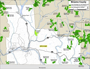 Broome County map