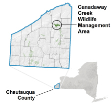 Canadaway Creek WMA locator map